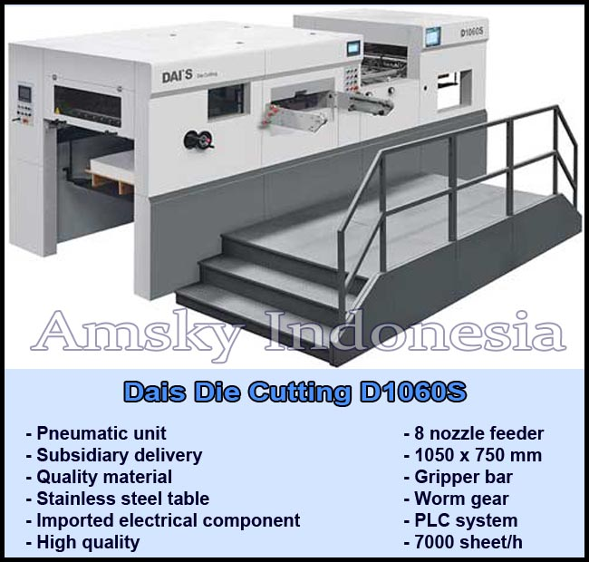 Mesin die cutting Dais D1060S