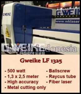 Mesin fiber laser Gweike LF 1325