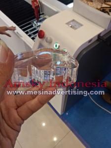 Hasil cutting acrylic 2 cm mesin laser cutting Bodor BCL 1309 XU