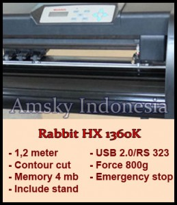Mesin cutting sticker Rabbit HX 1360K