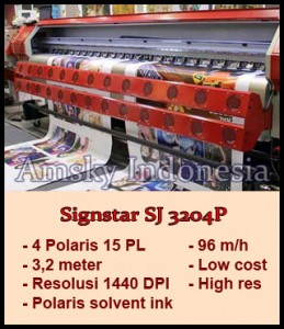 Mesin digital printing outdoor Polaris Signstar SJ 3204P