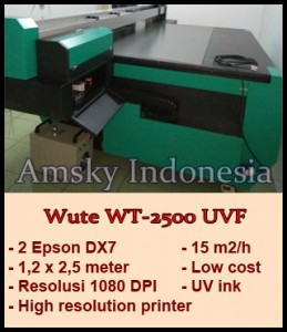 Mesin digital printing flatbed Wute WT-2500 UVF