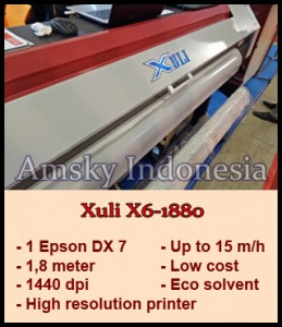 Mesin digital printing indoor Xuli X6-1880