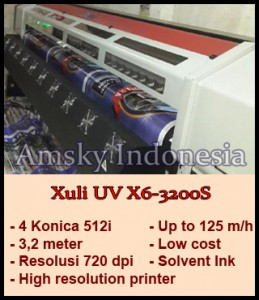 Spesifikasi mesin digital printing outdoor Xuli X6-3200S