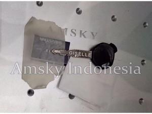 Laser marking Gweike LF30 pada metal