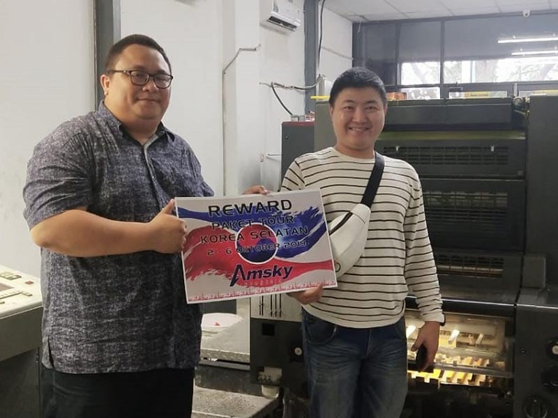 Rewards Amsky Indonesia ke Korea Selatan