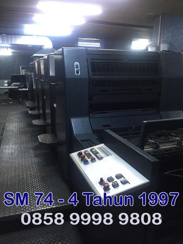 Mesin cetak SM74-4 Tahun 1997